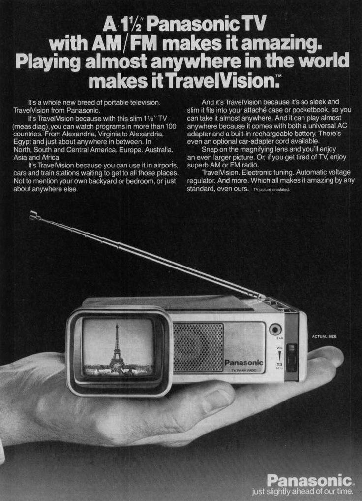panasonic travelvision ad - 1968