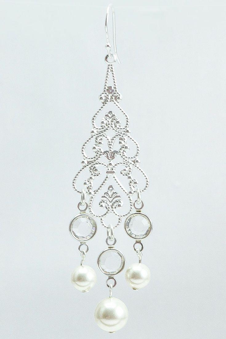 Best 25 bridal chandelier earrings ideas on pinterest statement adele earrings bridal chandelier earring pearl wedding earring long pearl earring arubaitofo Gallery