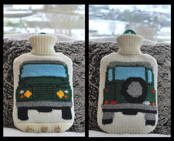 Knitting Pattern  Knit a Hot Water Bottle Cover by SnuginaDub, £1.99
