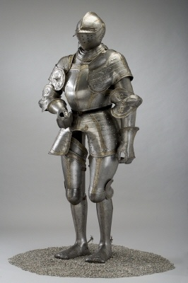 Courtesy of The Royal Armoury (http://emuseumplus.lsh.se/eMuseumPlus). Suit of armour of Gustav I (Gustav Vasa). This  suit of armour was intendended for tournaments and ceremonies and made in southern Germany in 1540. It's one of the oldest artefacts in the Royal Armoury in Stockholm.