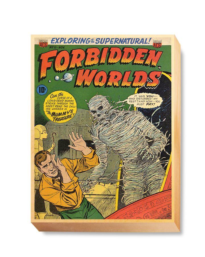 HOR 008 Horror Comic Cover - Forbidden Worlds Mummy