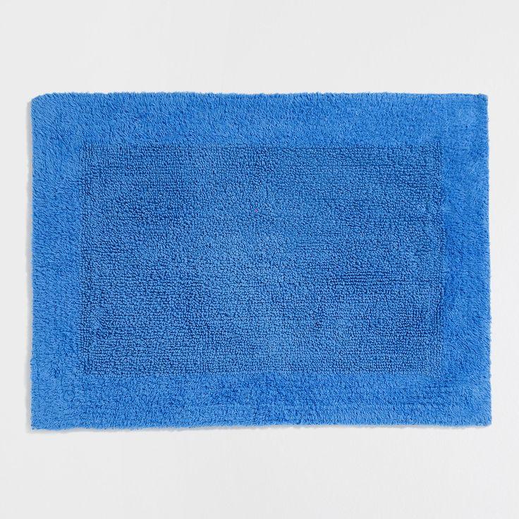 Ürün görseli 1 Çerçeveli, çift taraflı mavi banyo paspası