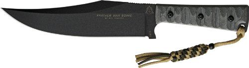 Tops Knives PWB01 Prather War Bowie Fixed Blade Knife with Matte Gray Linen Micarta Handles Unknown,http://www.amazon.com/dp/B007NWA1C0/ref=cm_sw_r_pi_dp_Tagytb1PKD3B9TP6