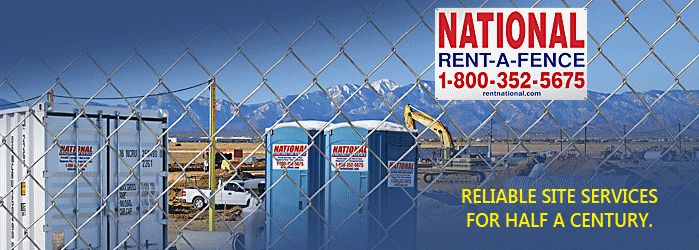Rent National Chain Link Fence, Fence Panels, Portable Toilets, Temporary Power, Barricades, Premium Storage Containers | rentnational.com