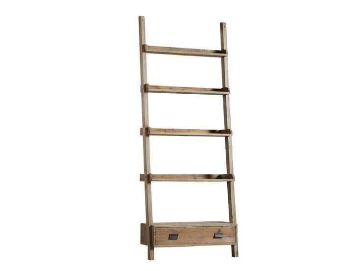 Wall-mounted wooden bookcase DB002948 by Dialma Brown