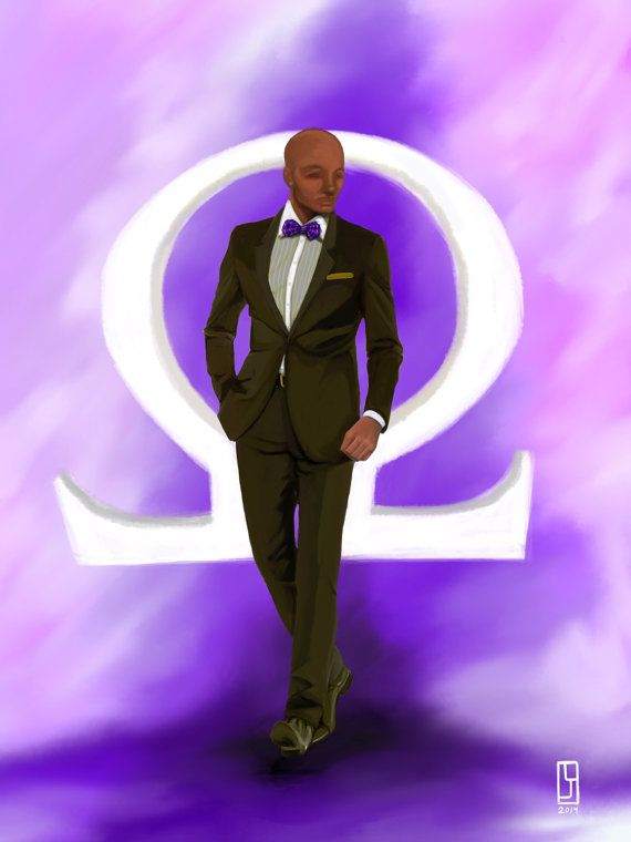 The Man Omega Psi Phi by ThePanhellenist on Etsy