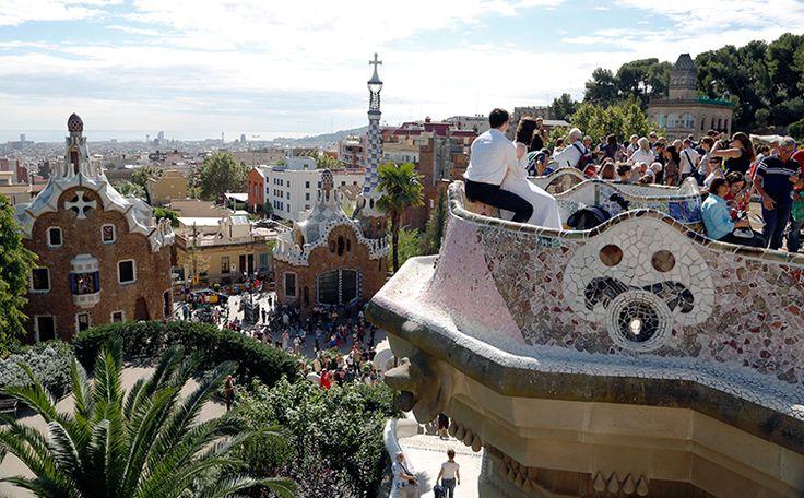 Gaudís Parc Güell i Barcelona. Foto: Christian Grønne