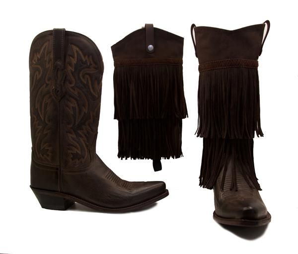The comfort and quality of Old West boots meets the beauty and style of BootRoxx! With this bundle you get a pair of Old West boots and Fringe Boot Covers!