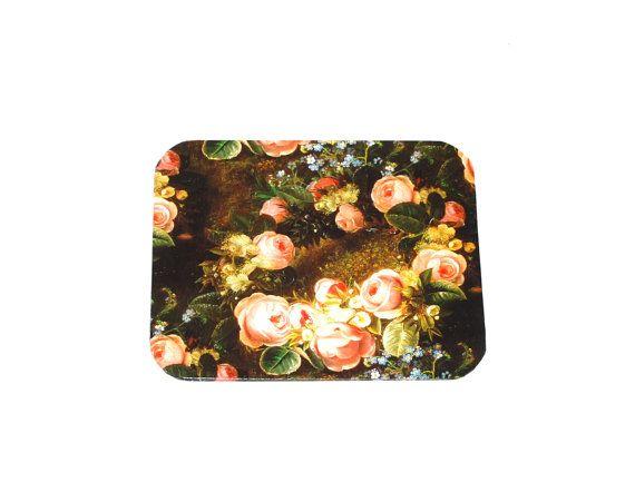 Mousepad Rosengarten Untersetzer Ablage handmade von Arsunica, €9.00