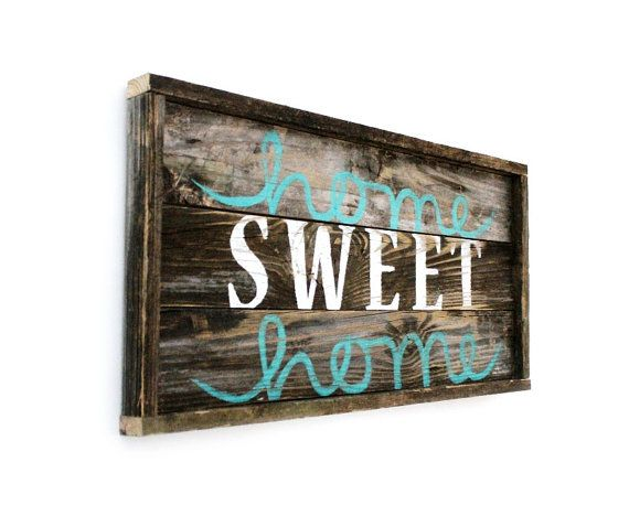 """Home Sweet Home -- Distressed Wood Sign--27"""" x 13"""""""