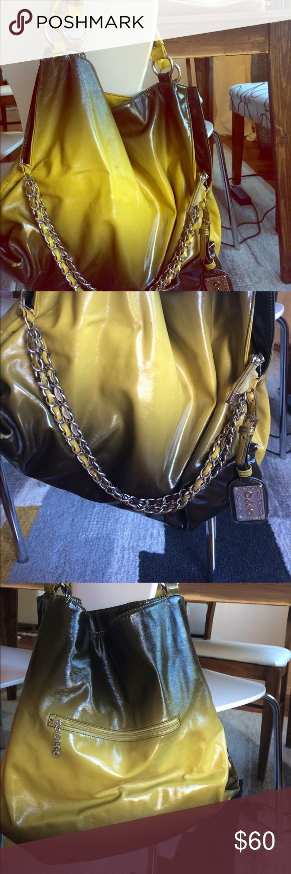 Beautiful olive green shoulder bag Ok condition, some stains and normal wear/tear/leather peeling and cracking. Bags Shoulder Bags