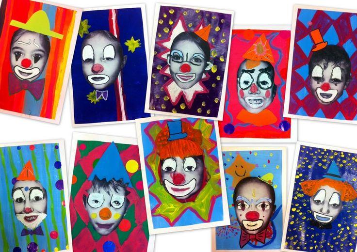 Les petites têtes de l'art, demandez aux parents s'ils reconnaissent leur clown.