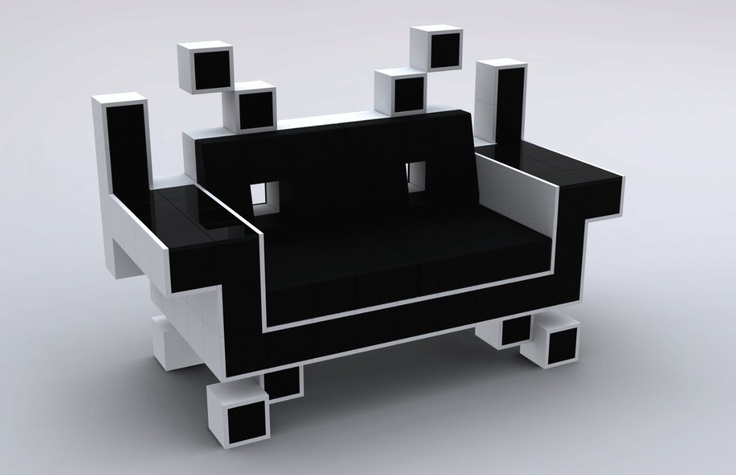 There is only one seat in the house for playing that excellent retro video game. Perfect also for the media room...and what is just wonderful about this couch is that those born after 1978 probably wouldn't understand. Take another look...its just beautiful!