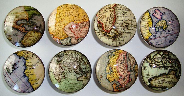 Handmade Old World Globe Dresser Drawer Knobs  Set by whimzicality, $21.99