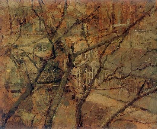 View from the window of his studio in Krakow, Olga Boznanska. Polish (1865 - 1945)