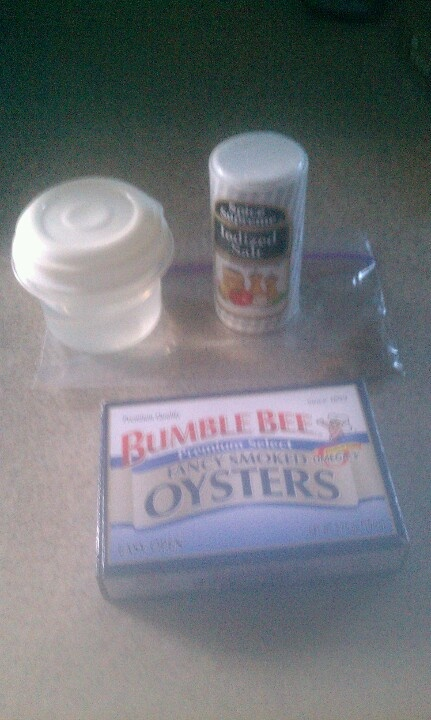 30 th Anniversary gift to me from my husband. A pearl growing kit.( traditional gift is a pearl) He is so clever.  Lol.    Water, sand, salt, and oysters.