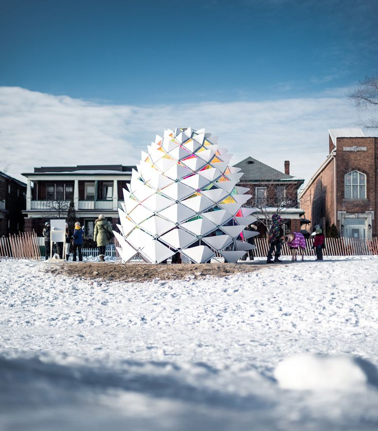 kinetic snowcone winter station reimagines lifeguard post on toronto beach