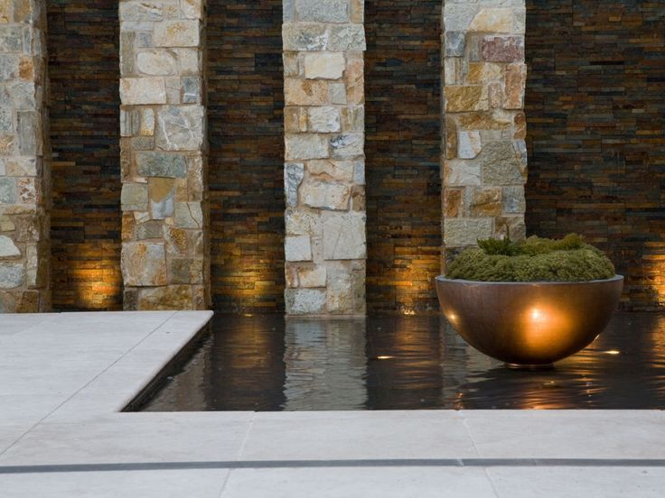 37 best images about eco outdoor feature wall ideas on for Outside feature wall ideas