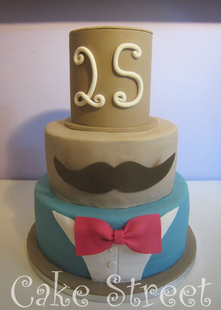 Bow Tie and Mustache Cake!