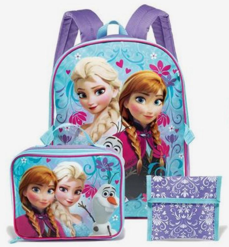 Backpack set comes with Lunch box and Sandwich holder For Ages 5 and up Free Gifts include: - 3D Frozen stickers - Frozen bottle hand soap - Frozen Diary or Journal