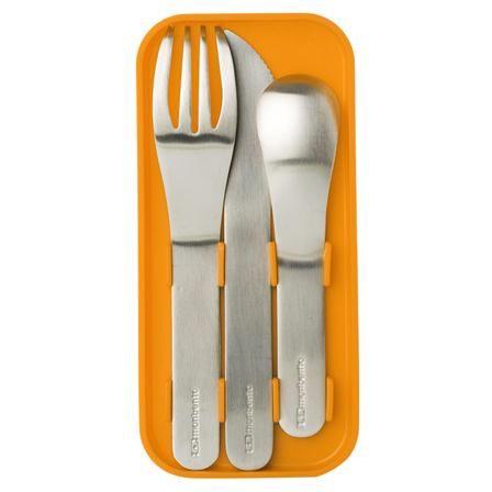 Monbento Pocket Cutlery Set in Orange