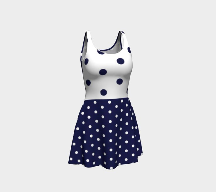 Navy dots preview #1