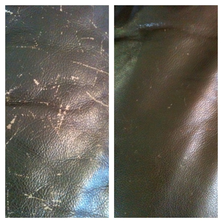 Leather Furniture Repair. Our New Kitten Made Quite A Few Scratches On Our  Brown Leather
