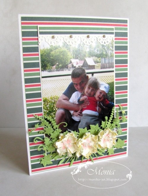 Simple photo frame tutorial made by Monia. Paper: A Time4Joy #3.