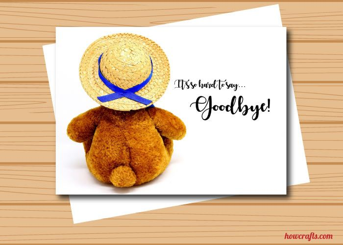 Cute Teddy Bear Farewell Card Farewell Cards Beautiful Greeting