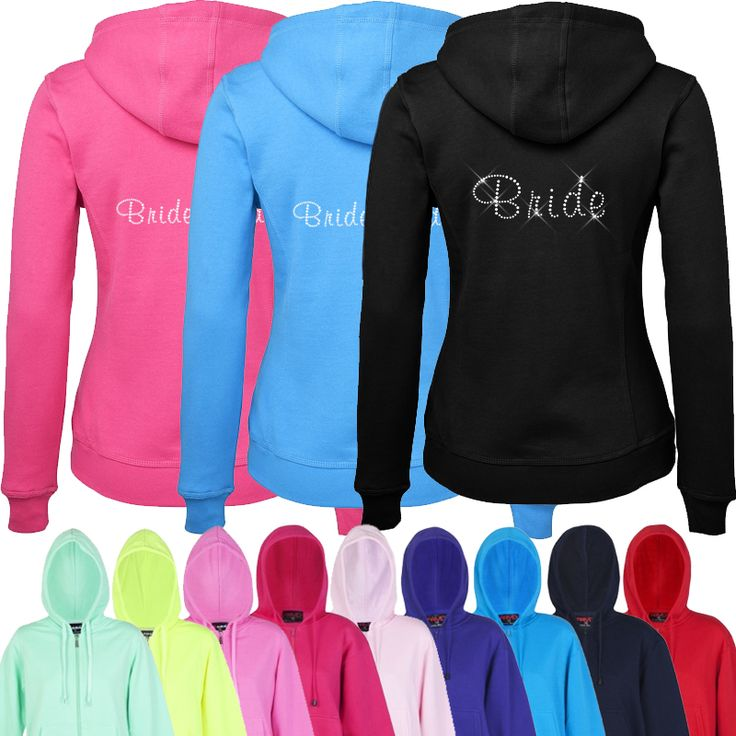 Bridal Party Diamante Hoodies - Bulk Buy
