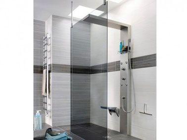 Douche l 39 italienne dans salle de bain design decoration - Paroi de salle de bain ...