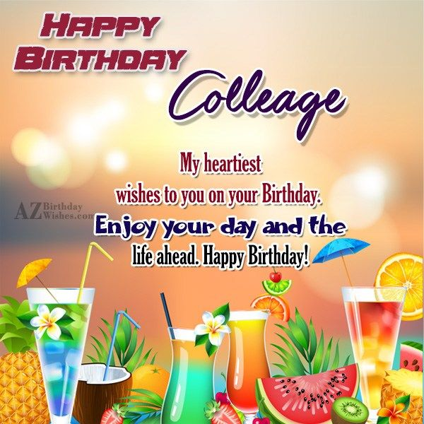Happy Birthday Colleague