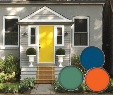 Here are some more bright, front door color ideas, perfect for Spring and Summer.  curb appeal. front door. entry door. home remodel.