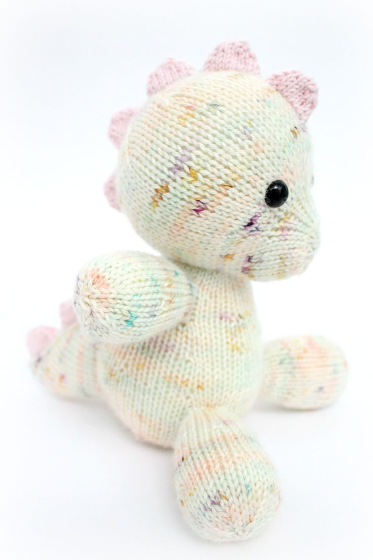 Free Knitting Pattern For Armadillo Toy Softie - This Adorable