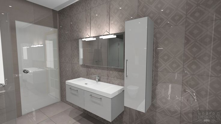 3D plan of bathroom with Valentino ceramic by Laura Designs