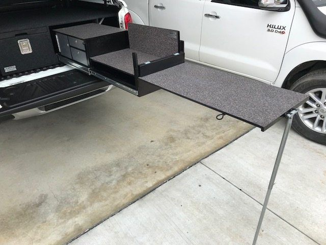 Dual Cab 3 Kitchen Drawer Table Package 2790 Drifta Camping 4wd Kitchen Drawers Drawer Table Drawers