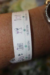Zeitleiste Armbänder – Wasserfarben-Hochzeit am See, Graugrün, Mint, Aq …