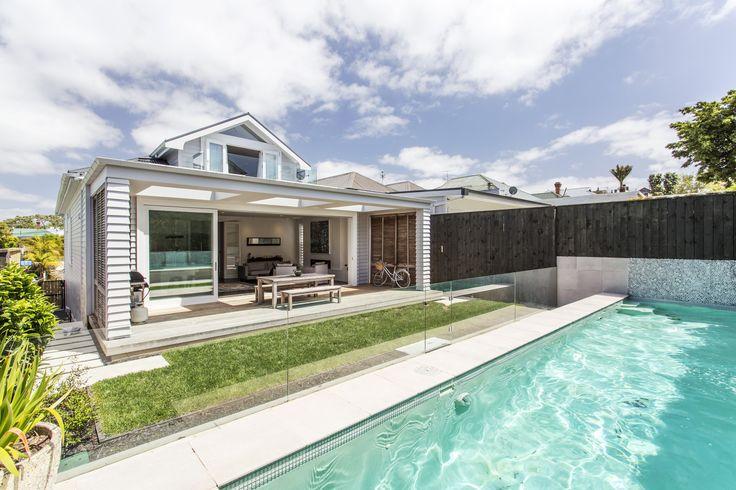 backyard + pool in Wanganui Ave