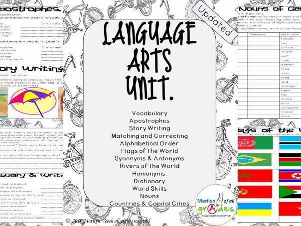 Language Arts Unit of Work. - Set 1