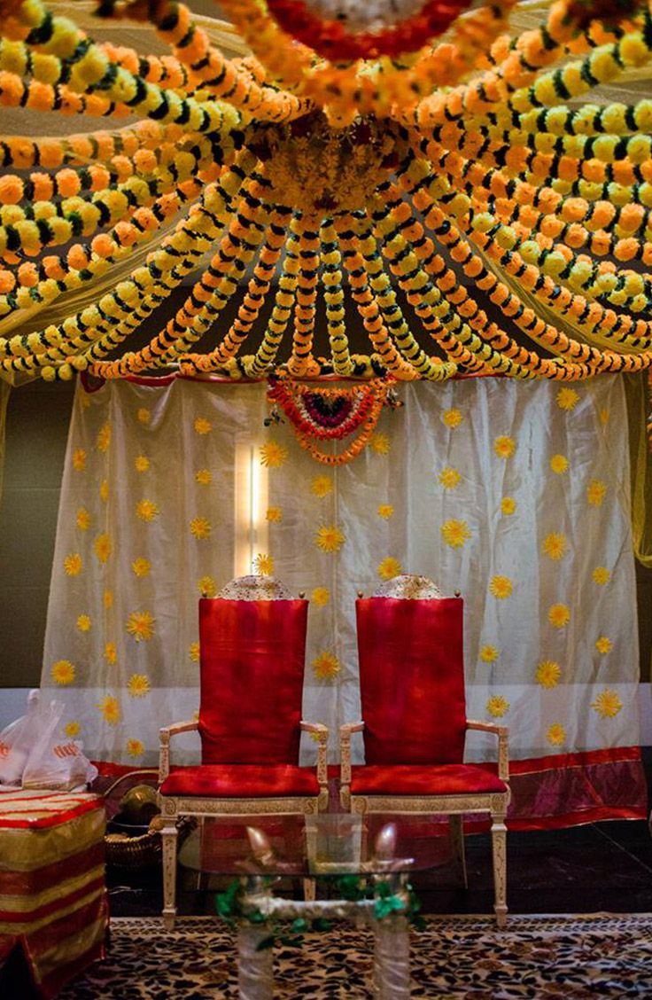 Bride And Groom Chairs Under The Mandap At A Traditional Indian Wedding At The Iowa Events Center In Des Moines Event Center Traditional Indian Wedding Wedding