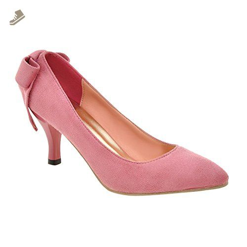 Charm Foot Women's Sweet Back Bows Kitten Heels Pumps (9, Pink) - Charm foot pumps for women (*Amazon Partner-Link)