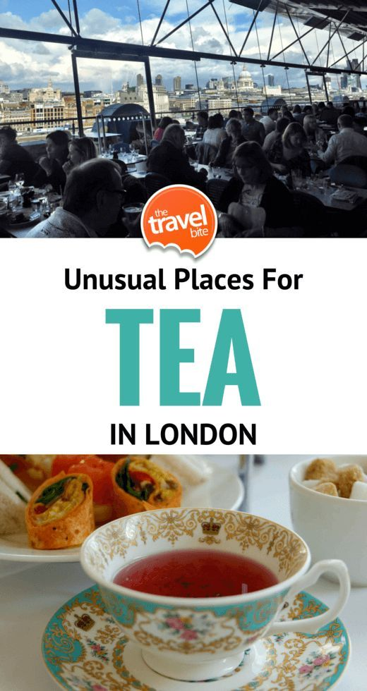From a fun twist on traditional English tea, to places you didn't think you could go, and two teas with a creative twist, here are a few unusual places you can have tea in London.