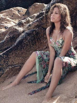 Eva Mendes, Pisces on the beach, ELLE magazine...