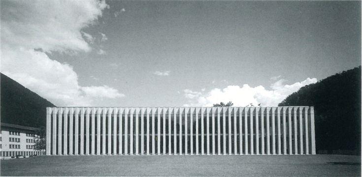 Livio Vacchini, Palestra polivalente, Losone, 1997
