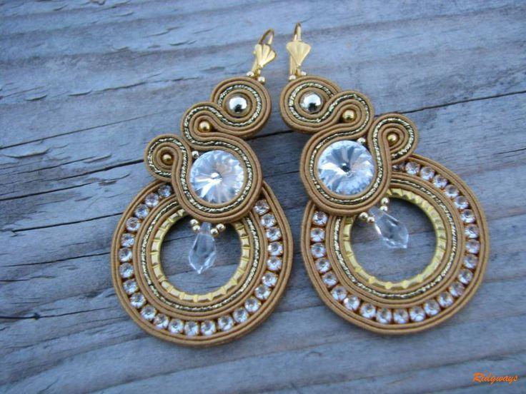 Náušnice - Hoop Collection - Big Gold ...soutache - 6491229_