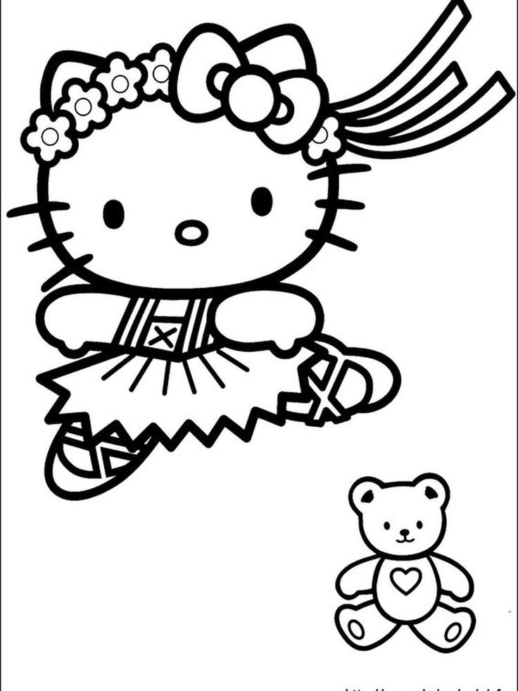 hello kitty coloring pages to color online free. When we ...