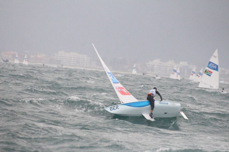 Cameron Pimentel endured his toughest day on the water as an Olympic sailor in the most difficult racing conditions he has encountered.Pimentel's