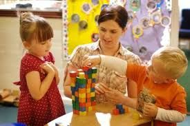 Early years - or nursery, teachers work in pre-school, nursery and reception classes with children aged between three and five. They plan and carry out activities in line with the requirements of the early years foundation stage (EYFS). This involves developing work schemes and lessons plans to motivate children and imaginatively using resources to help them learn.