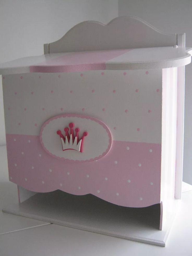 pañalera fibrofacil con tapa-caja pintada a mano