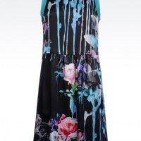 TodoMercado - Emporio Armani Dress In Flower Print Silk: Brand New Size 38